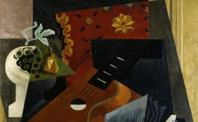 Gino Severini. Natura morta con chitarra, 1919, detail