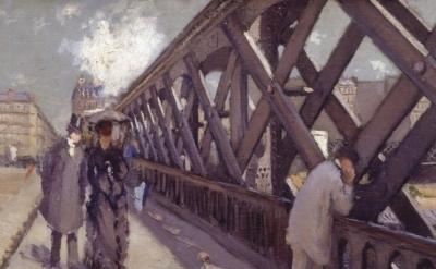 Gustave Caillebotte, Le Pont de l'Europe, 1876, detail