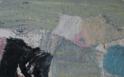 Inga Dalrymple, Table with a Dark Shape, 2011, oil on canvas, detail