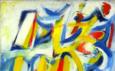 Jack Tworkov, House of the Sun (variation), 1952, detail