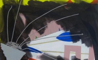 Jasmine Justice, Pillow Talk, acrylic on linen, 2011, detail