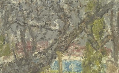 Leon Kossoff, Cherry Tree with Diesel, 2004-05