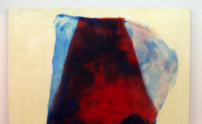 Mary Weatherford red cave, 2011 Flashe on linen