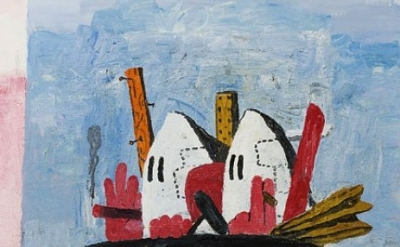 Philip Guston, Philip Guston, Edge of Town, 1969, detail