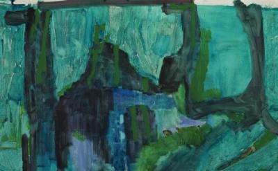 Varda Caivano painting, detail