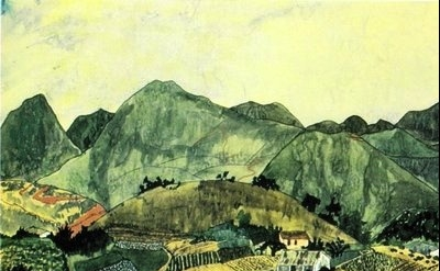 Elizabeth Bishop: Brazilian Landscape. Watercolor and gouache, detail