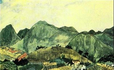 Elizabeth Bishop: Brazilian Landscape. Watercolor and gouache, detail