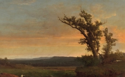 George Inness, Twilight on the Campagna, c. 1851, oil on canvas, 38 x 53 5/8 inc