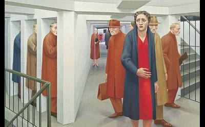 George Tooker, The Subway, detail