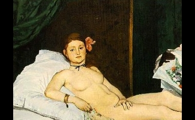 Manet, Olympia, detail