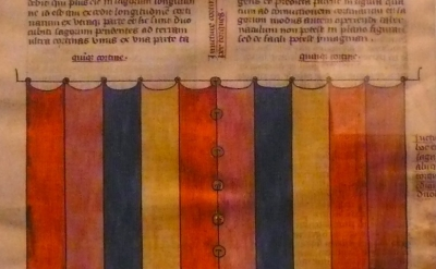"Detail, leaf from Nicholas of Lyra's ""Postilla Litteralis"""