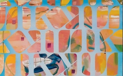 Todd Kelly, Logo Painting, 2011 Oil and acrylic on canvas, detail