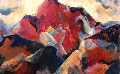 Edith Park Truesdell painting, detail