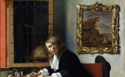 Gabriel Metsu, painting, detail