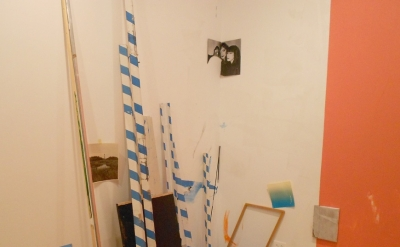 Rob Nadeau, painting installation, detail