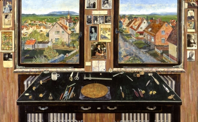 Simon Dinnerstein, The Fulbright Triptych, detail, center panel
