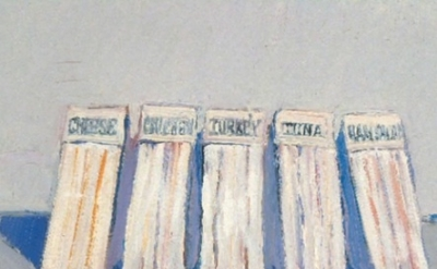 Wayne Thiebaud, painting, detail.