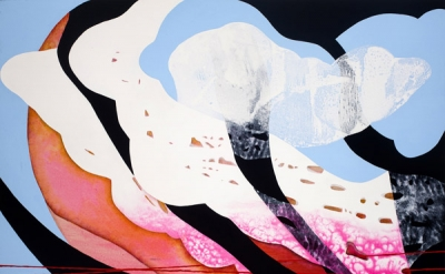 Carrie Moyer, Cherry Blossom Hour, 2011