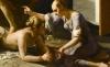 (detail) Guido Cagnacci, The Repentant Magdalene, ca. 1660−63, iil on canvas, 90 1/4 x 104 3/4 inches (Norton Simon Art Foundation, Pasadena, California)