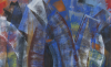 (detail) Mary Jones, Bridges for Hedda Sterne, oil on canvas, 72 x 62 inches, 2016 (courtesy of the artist and John Molloy Gallery)