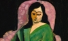 (detail) Henri Matisse, Laurette in Green Robe (Black Background), 1916, oil on canvas, 28.75 x 21.5 inches (Metropolitan Museum of Art)