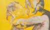 (detail) Nicole Wittenberg, The Yellow Kiss, 2016, oil on canvas, 72 by 120 inches (courtesy of yours mine & ours)
