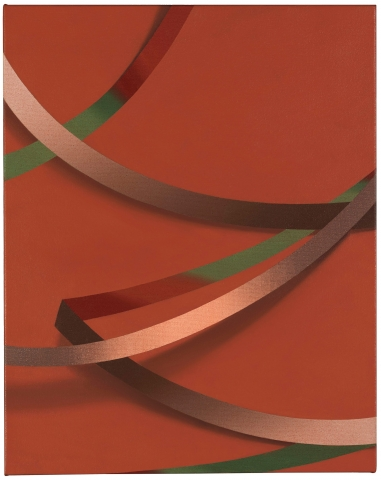 Tomma Abts, 'Always different, always the same' … Weie, 2017 (Photograph: Marcus J Leith/Courtesy Collection of Danny and Lisa Goldberg)