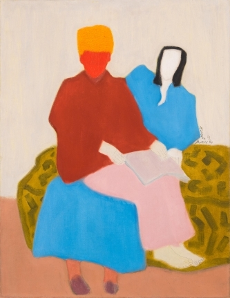 Milton Avery, Mother's Boy, 1944, oil on canvas, 35 7/8 x 27 7/8 inches (courtesy of Metro Pictures)