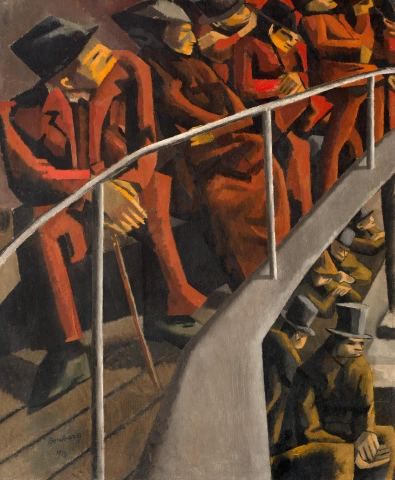 David Bomberg, D. Ghetto Theatre, 1920 (Estate of David Bomberg/Bridgeman Art Library)