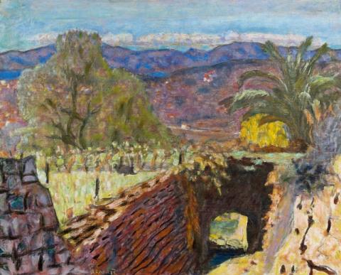 Pierre Bonnard, Paysage du Cannet par temps de Mistral (Landscape with the Mistral Wind), 1922, oil on canvas, 49 x 62 cm (Acquired with the support of the FRAM. Musée Bonnard, Le Cannet. © Adagp, Paris 2014)