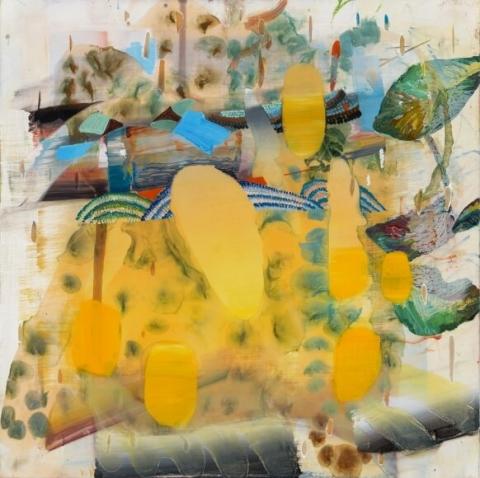 Carolyn Case, Sunset, 2017, oil on panel, 12 x 12 inches (courtesy of Asya Geisberg)