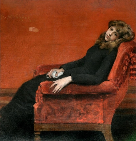 William Merritt Chase, The Young Orphan (An Idle Moment), 1884, oil on canvas (National Academy Museum, New York)