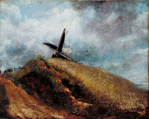 John Constable, A windmill near Brighton, 1824, oil on canvas (Lent by Tate: Bequeathed by George Salting, 1910)