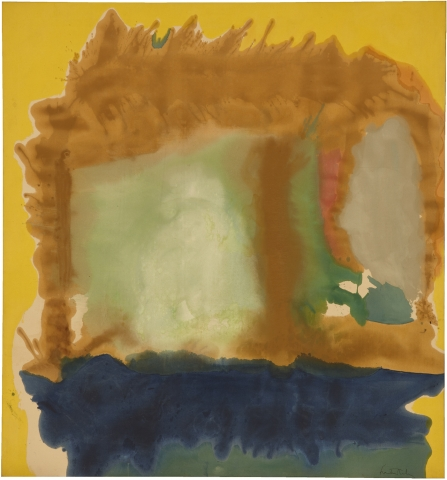 Helen Frankenthaler, Milkwood Arcade, 1963, acrylic on canvas, 86 1/2 x 80 3/4 inches (Helen Frankenthaler Foundation (© 2017 Helen Frankenthaler Foundation, Inc. / Artists Rights Society (ARS), New York)