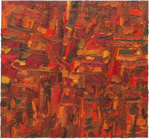 Al Held, Untitled, 1953, oil on canvas, 50 × 54 inches (courtesy of the Al Held Foundation. Inc., Nathalie Karg Gallery and Cheim & Read New York / Licensed by Artists Rights Society (ARS) New York)