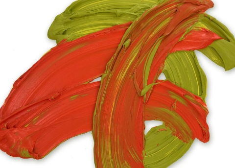 (detail) Donald Martiny, Faliscan, 2018, polymer and dispersed pigment on aluminum, 36 x 36 inches (courtesy of the artist)