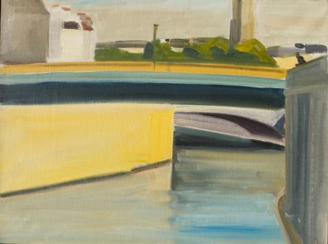 Louisa Matthiasdottir, Paris Series, Yellow, c.1978, oil on linen, 14 1/4h x 19w inches