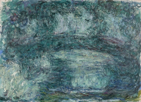 Claude Monet, Le Pont japonais, 1918-1924, oil on canvas, 73 × 100 cm (Private collection. Courtesy Blondeau & Cie, Geneva. Photo : © Studio Sebert, Paris)