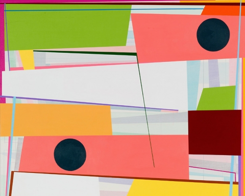 (detail) Gary Petersen, Slip Stream 2, 2015, acrylic on canvas, 36 x 30 inches (courtesy of McKenzie Fine Art)