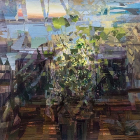 Stephanie Pierce, searcher, 2017/18, oil on canvas, 20 x 20 inches (courtesy of Steven Harvey Fine Art Projects)