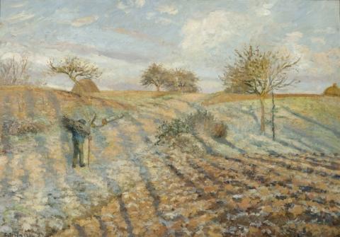 Camille Pissarro: Hoar Frost (Gelée blanche à Ennery), 1873 (Musée d'Orsay, Paris)