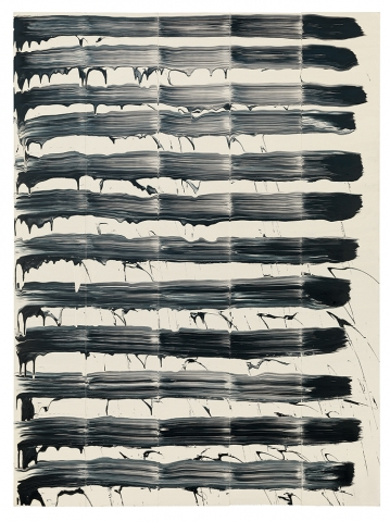 David Reed, #64, 1974, oil on canvas, 76 by 56 inches (Goetz Collection, Munich. All Reed paintings this article © David Reed/Artists Rights Society (ARS), New York. Courtesy Gagosian Gallery)