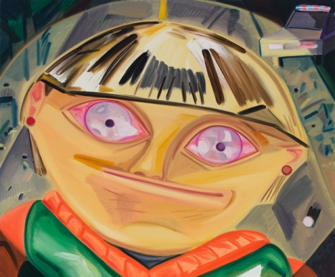 (detail) Dana Schutz, As Normal as Possible, 2015, oil on canvas, 40 x 36 inches (courtesy of the artist)