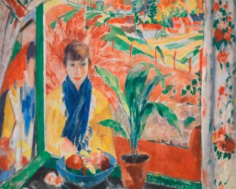 (detail) Rik Wouters, Autumn, 1913, oil on canvas, 135.5 × 140.5 cm (Antwerp, Koninklijk Museum voor Schone Kunsten Antwerpen. © Lukas - Art in Flanders vzw. Photograph: Hugo Maertens)