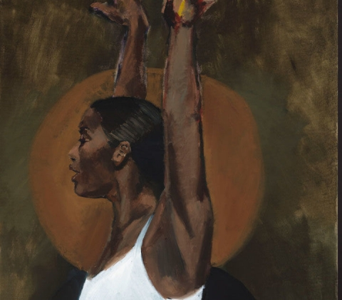 (detail) Lynette Yiadom-Boakye, Light Of The Lit Wick, 2017 (courtesy of Lynette Yiadom-Boakye/Cori-Mora, London/Jack Shainman Gallery)