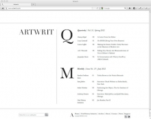 Artwrit art magazine and blog