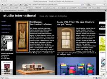 Studio International Magazine
