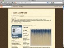 I call it ORANGES blog