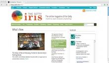 The Getty Iris Art blog