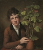 Rembrandt Peale, Rubens Peale with a Geranium, 1801, oil on canvas, 28 1/8 x 24